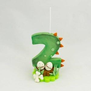 vela cumpleaños original dinosaurio